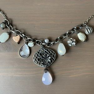 Long Vintage Style Charm Necklace